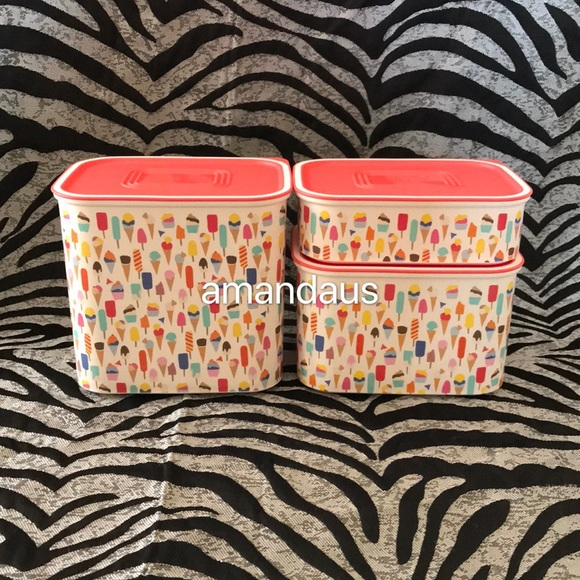 Tupperware Other - *New* Tupperware Sweet Parlor 3pc Set Canister